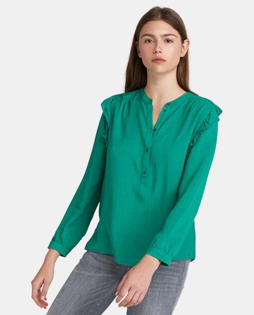 f0ca2de22 Blusa de mujer Kookai con volantes y manga larga   Blusas en 2019 ...