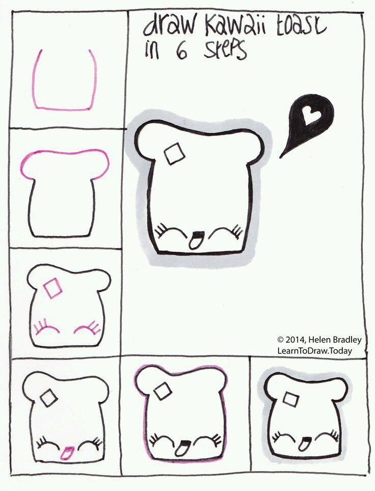 Легкие и прикольные рисунки карандашом для личного дневника