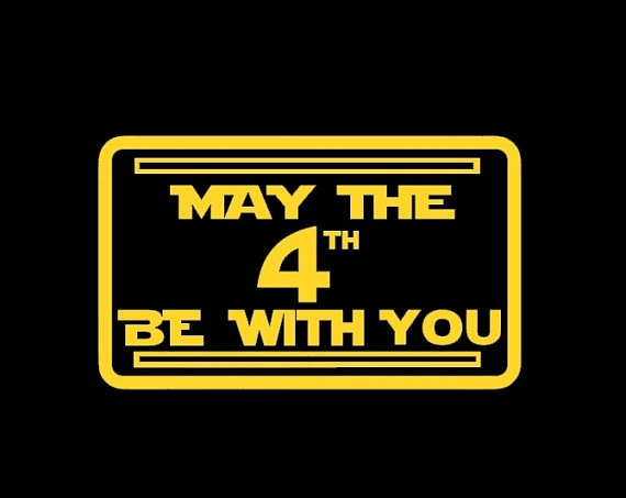 May the 4th be with you tshirt on Etsy, $16.00