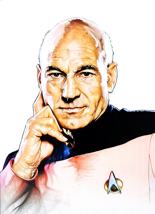 Picard by Corbyn S. Kern on Behance #startrek #tng #fanart