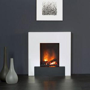 Image result for see through electric fireplace