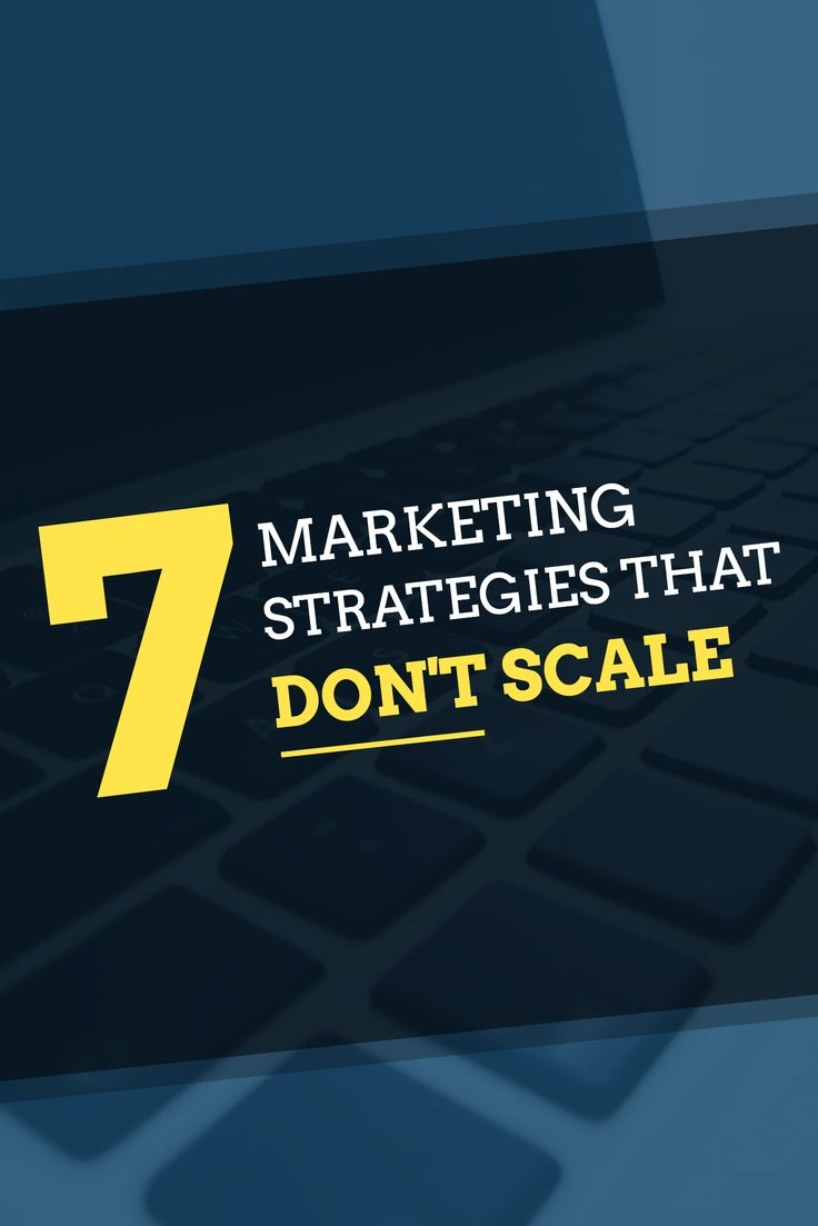 In the early days of a startup, you need to scratch and claw your way to get users and customers. Here are 7 marketing strategies we did that which don't scale.