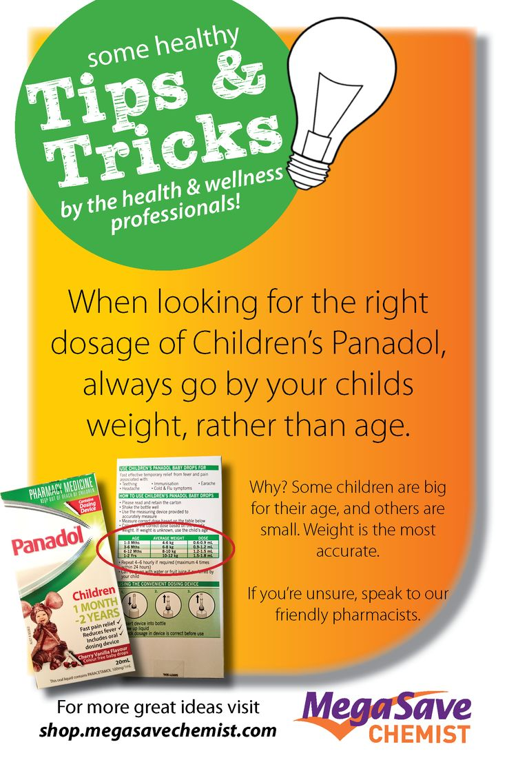 How to give your children the correct dose of paracetamol. #childrenspanadol #sickkids