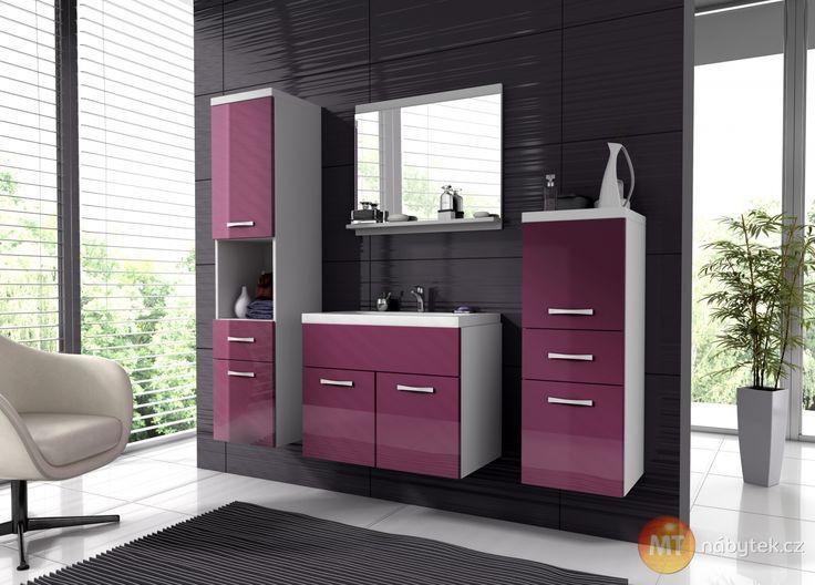 Moderní sestava koupelnového nábytku Horace 1, lamino