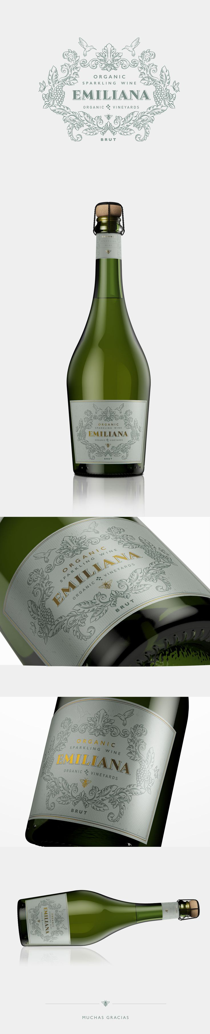 Label / Organic Sparkling Wine | EMILIANA
