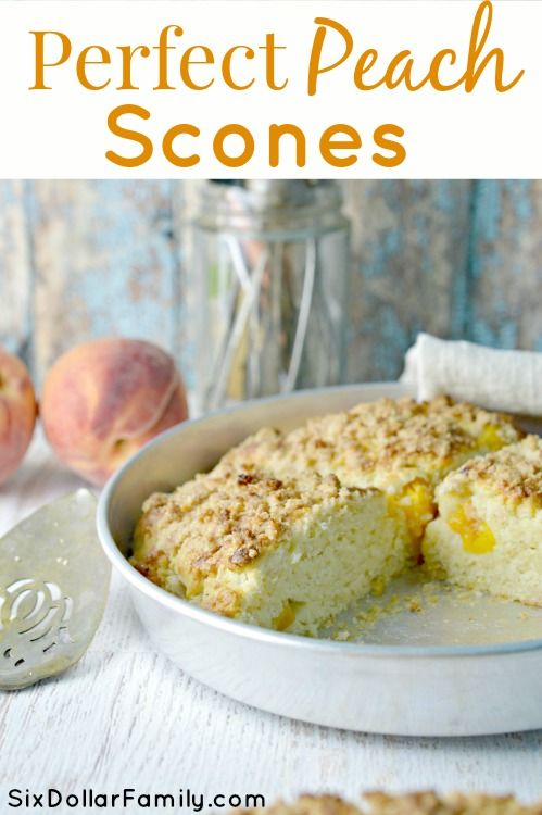 Dessert or Breakfast?! You decide! Either way, this peach scone recipe is absolutely perfect!