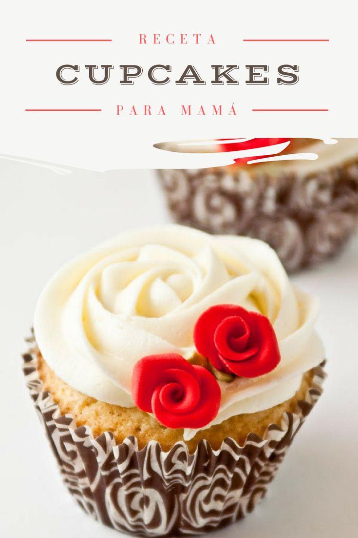 Festeja el día de las madres con esta receta de cupcakes light. ¡A mamá le va a fascinar! | cupcakes para mamá mother's day | cupcakes para el día de las madres | día de las madres cupcakes | #cupcakerecipes
