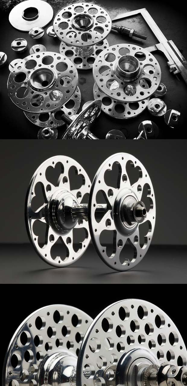Bicycle hubs with very detailed hub flanges