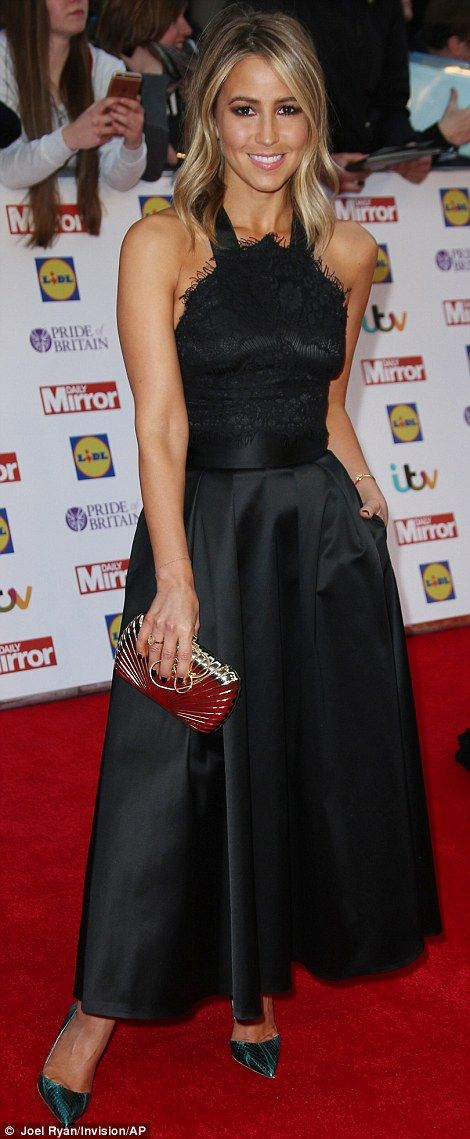 Keeping it classy: Anita Dobson (left) and Rachel Stevens (right) both opted for elegant black dresses