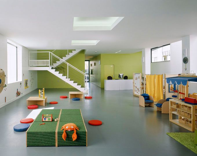 This children's toy library located in Bonneuil-sur-Marne, France and designed by LAN Architecture, reworks an old building into a fun new design.