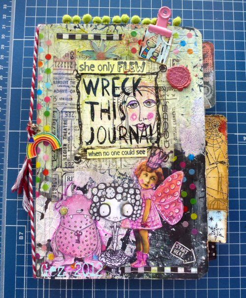 Wreck This Journal Book Cover Ideas : Decorating a journal cover wreck this