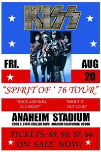 Kiss Concert Poster Photo American Rock Roll All Nite Music Band