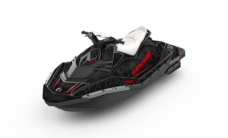 2014 Sea-Doo Spark with Black Sea Gray wrap. www.sea-doo.com