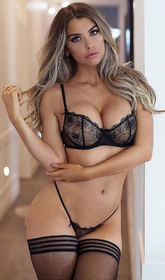 Sexy blonde girls in lingerie