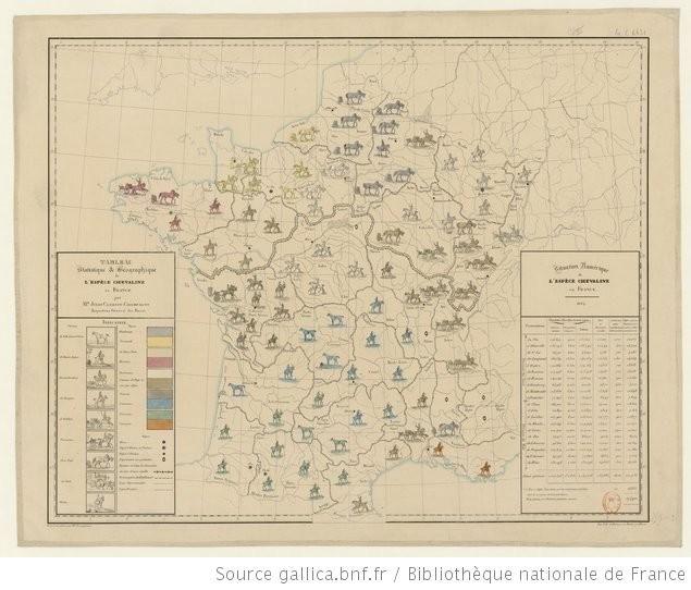 Tableau statistique et géographique de l'espèce chevaline en France / par M. Jules Clerjon-Champagny... - 1