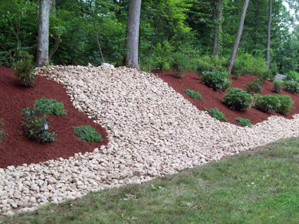 Decorative Stones For Flower Beds : Stone rock landscape design in medina copley bath