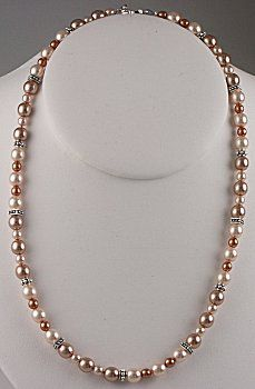 Make w/ copper & white pearls w/ silver spacers.