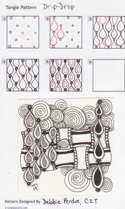 how to draw easy zentangle patterns
