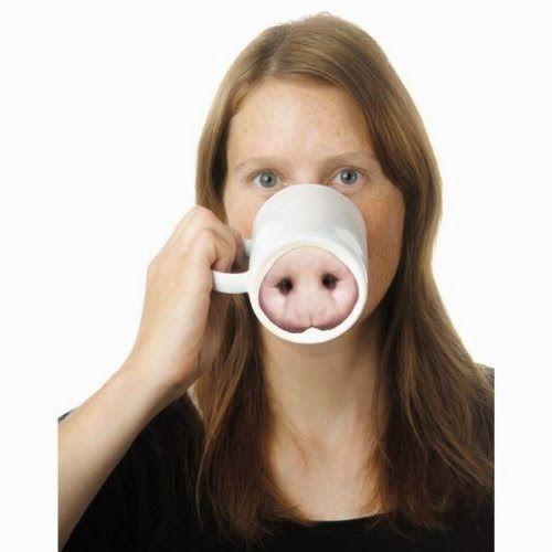 Pig snout mug