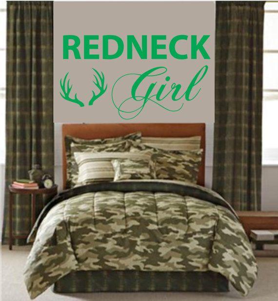 Photo of Redneck Girl Wall Truck decal– Pintail duck Deer antlers- living room, bedroom, Girl Nursery Baby ,