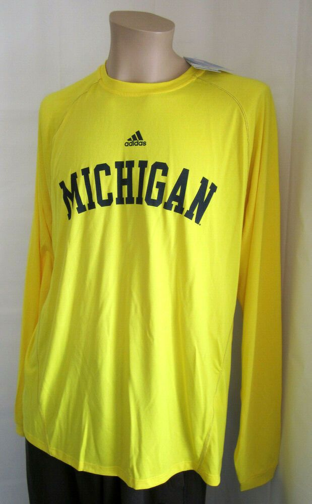 Michigan Wolverines Adidas Youth S//S Climalite Performance Shirt