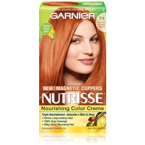 Garnier Hair Color Nutrisse Nourishing Color Creme, 74 Lightest... ($5.09) ❤ liked on Polyvore featuring beauty products, haircare, garnier, hair care and garnier hair care