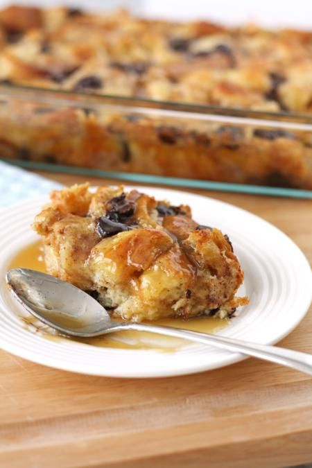 chocolate croissant bread pudding made with a super creamy and buttery custard with bittersweet chocolate chips and flakey croissants; the buttery layers of the croissants give this bread pudding a richness that can't be found in any other bread pudding