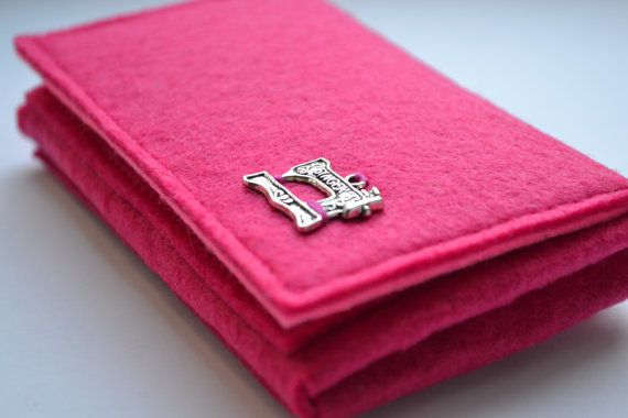 Pink Felt Wallet With a Bow  Felt Wallet for Girl  by NastasiaFelt
