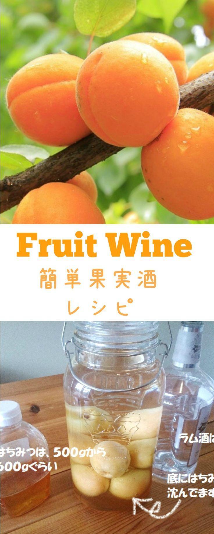 アプリコット酒レシピ。アメリカで作る簡単果実酒レシピです。他にも、桃とチェリーもつけました。#アメリカ #果実酒 Fruit Wine Recipe