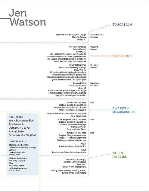 27 best i {heart} resume design images on Pinterest Resume - freelance graphic designer resume