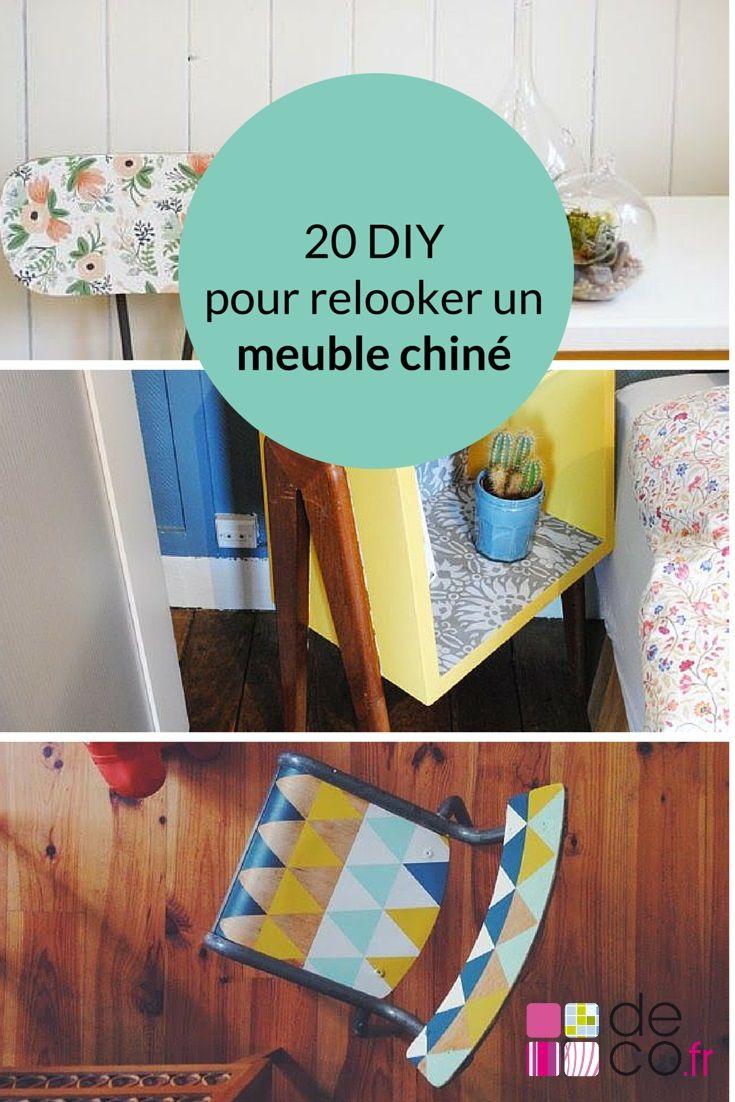 20 idées DIY pour relooker un meuble chiné // http://www.deco.fr/loisirs-creatifs/photos-81034/