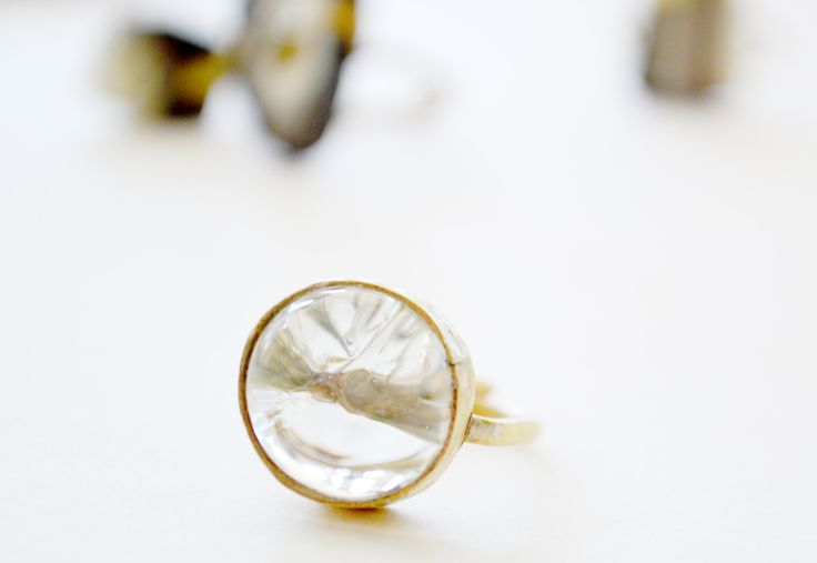 Recycled glass ring by Quazi Design