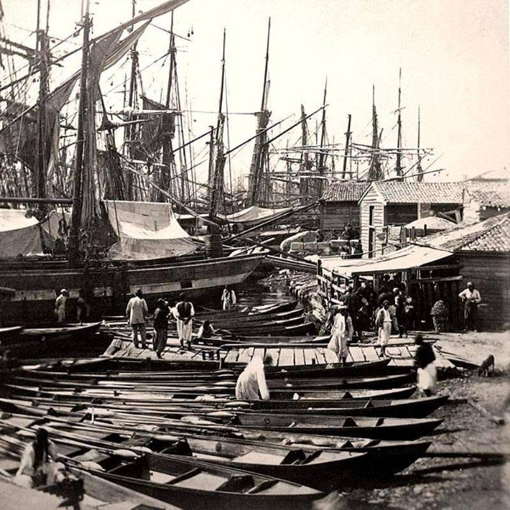 İstanbul, Beşiktaş Odun İskelesi (1870).