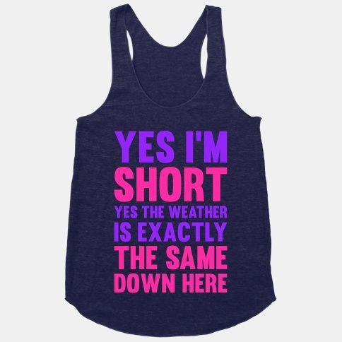 Yes I'm Short