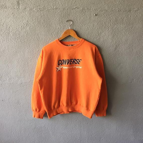 Vintage 90s Converse Spellout Printed Sweatshirt Crewneck Converse