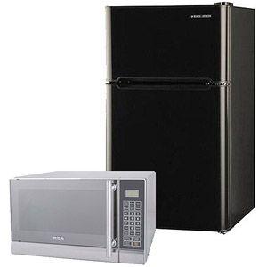 Black & Decker 3.3-cu ft 2-Door Refrigerator with RCA 0.7-cu ft Microwave Value Bundle