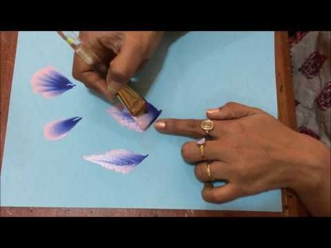 Acrylic Painting- One Stroke Technique- How to add variation to the strokes - YouTube