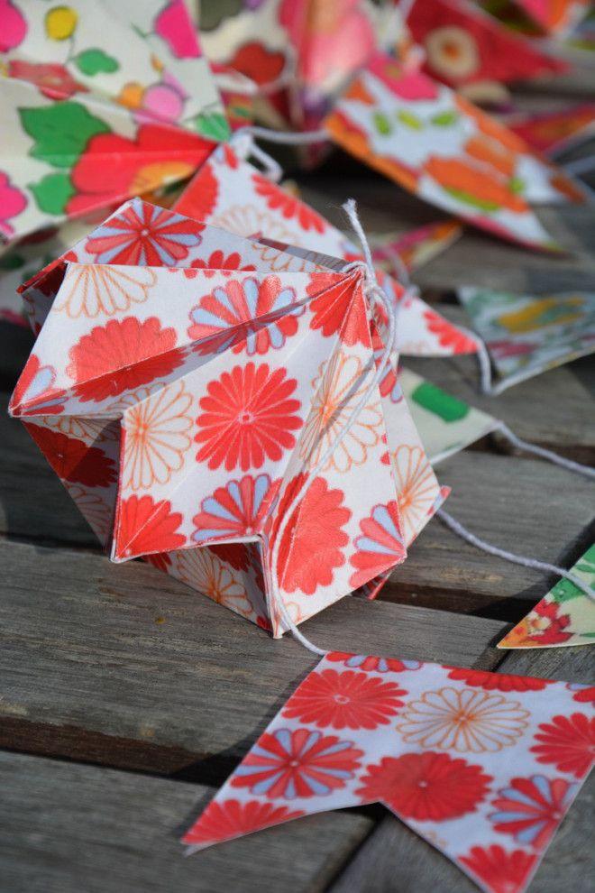 guirlande diamants origami liberty