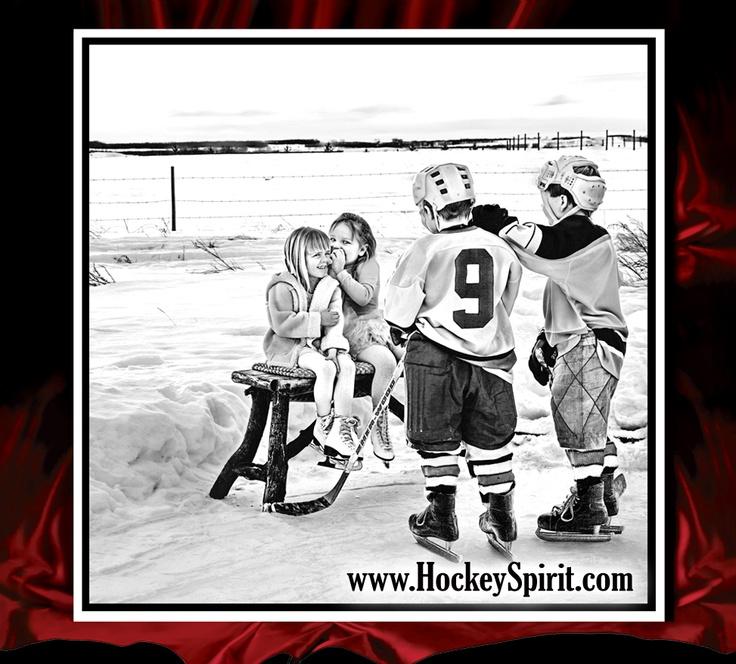 Prairie Hockey Kids on a winter Saturday afternoon.  Back yard hockey moments. www.hockeyspirit.com