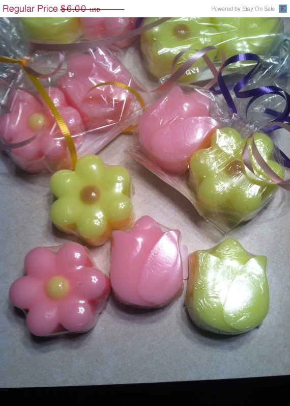 ON SALE Spring flowers soap by KatieMaesCottage on Etsy, $4.50