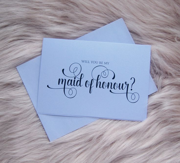 """Will you be my maid of honour ? Card for maid of honor. Brides proposal cards. Custom made card for your wedding day, pop the question """" will you be my maid of honour?"""""""