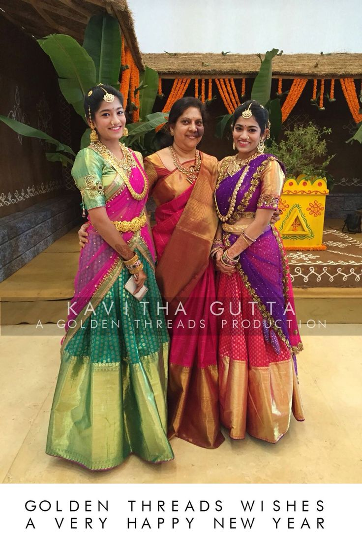 Half saree by Golden Threads(Kavitha gutta)