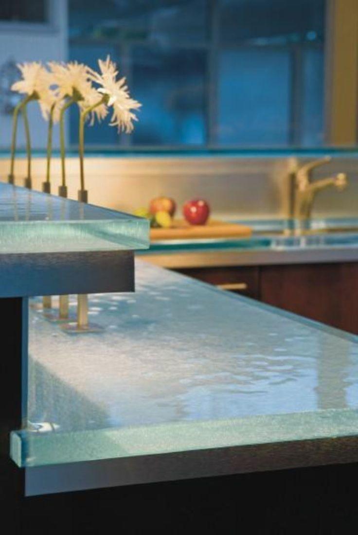 Mejores 33 Im Genes De Kitchen Countertops En Pinterest Encimera  ~ Encimeras De Cristal Para Cocinas