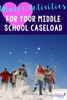 Fun winter therapy ideas for middle school! Speech therapy ideas with a winter theme.