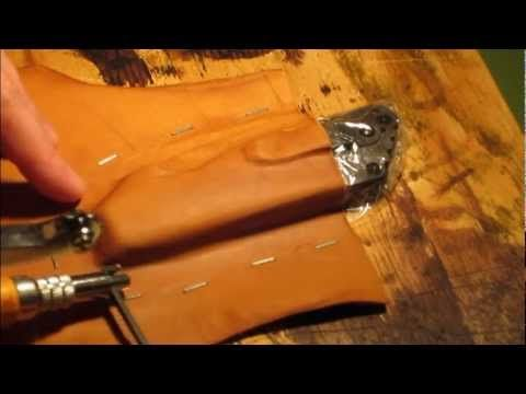 """""""Part 1 or 2 - In this video I go step-by-step making a leather sheath for a Strider SMF CC, but of course this tutorial could go for any knife. """""""
