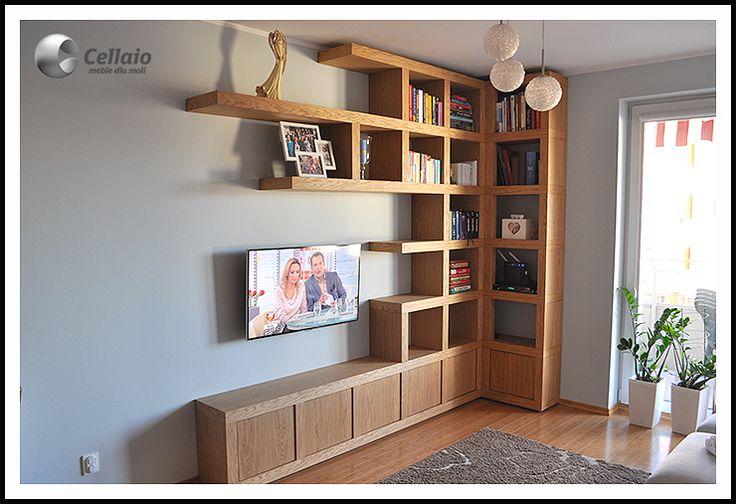 Wnętrza, Półki na książki Cellaio - Półki na książki Cellaio
