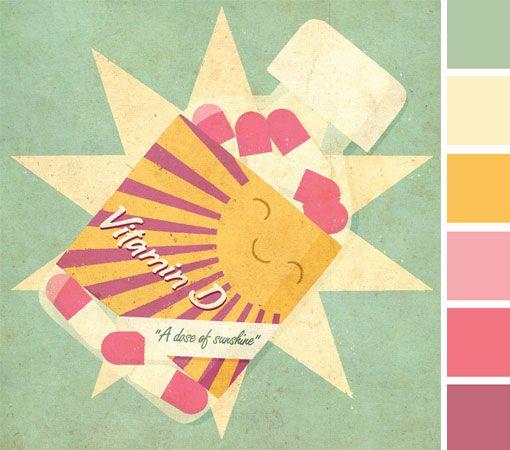 Colors I <3Candies Colors, Zara Pickens, Illustration Beautiful, Happy Colors, Colors Palettes, Colors Schemes, Summer Colors, Colours Palettes, Colors Inspiration