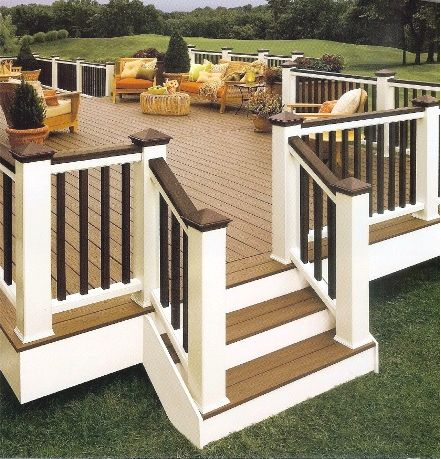 Deck like color scheme outdoor decor pinterest for Beautiful garden decking