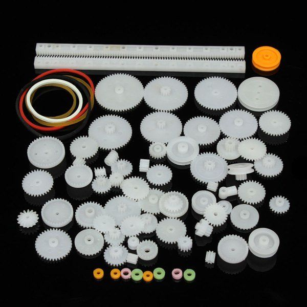 75 Kinds Plastic Shaft Single Double Reduction Crown Worm Gears DIY For Robot