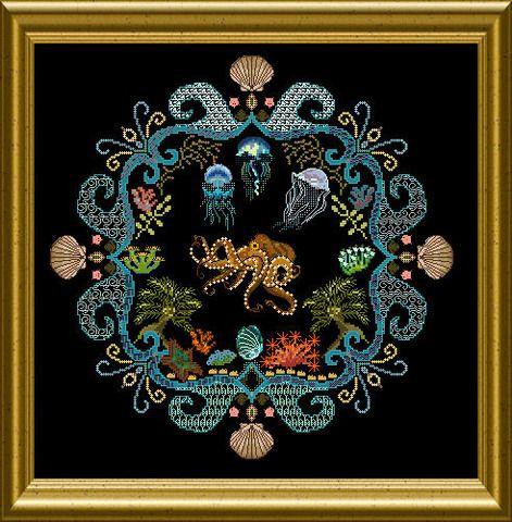 Sea creature cross stitch!!